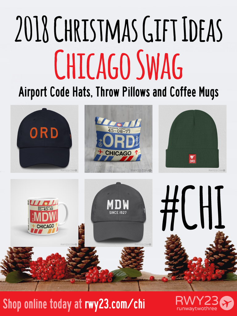 2018 Christmas Gift Ideas – ORD & MDW Chicago Airport Code Swag – RWY23