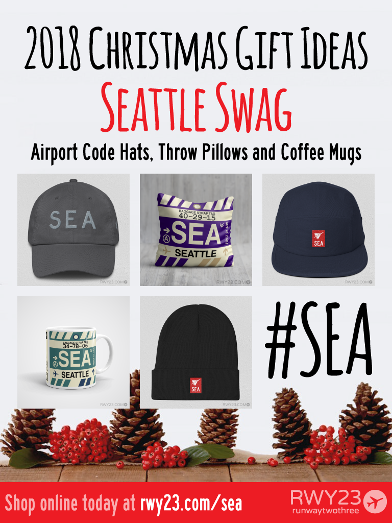 2018 Christmas Gift Ideas – SEA Seattle Airport Code Swag – RWY23
