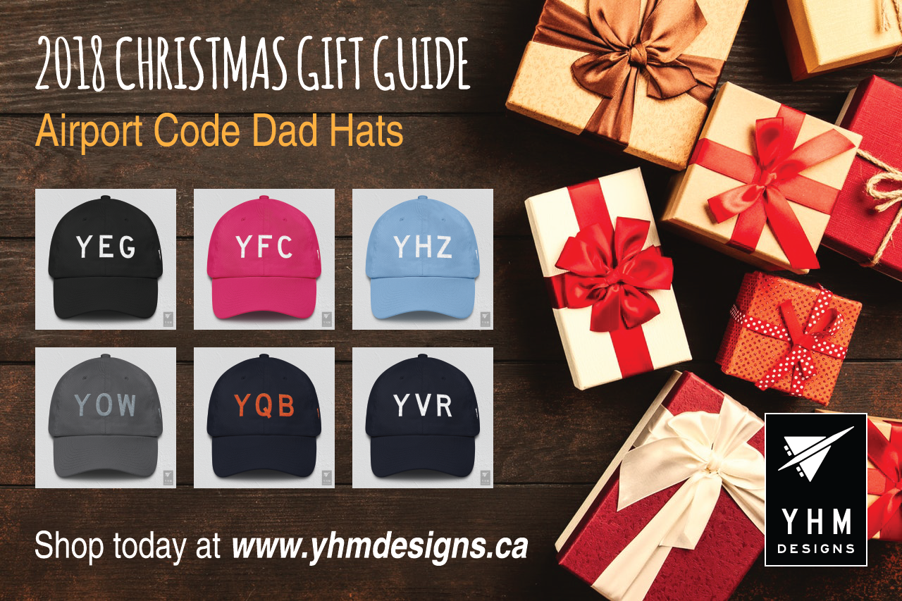 0242660c376 2018 Christmas Gift Ideas for Travellers - Airport Code Dad Hats - YHM  Designs