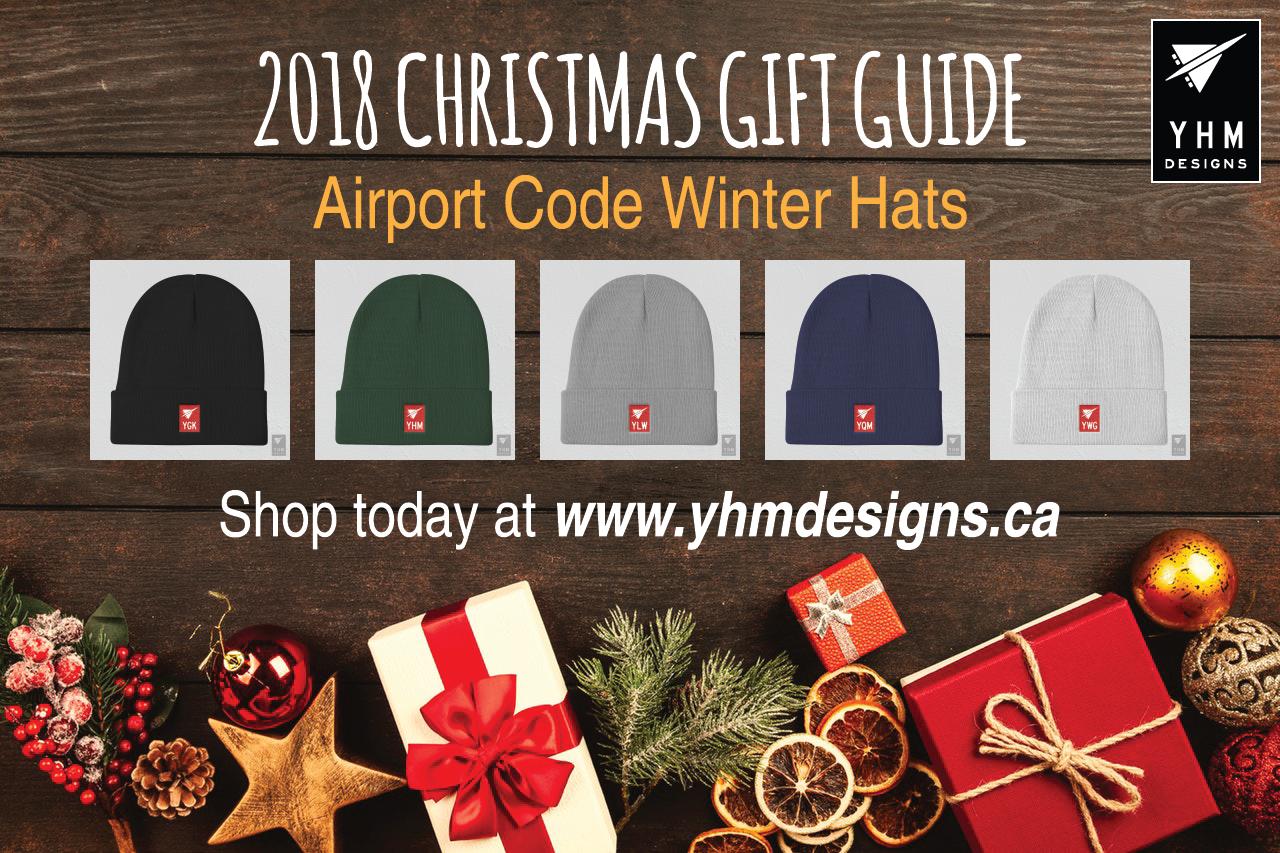 5fe87b3cb3d 2018 Christmas Gift Ideas for Travellers - Airport Code Winter Hats - YHM  Designs